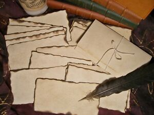 20 Parchment Papers Burned Edges Spells Message In A Bottle Halloween Pirates