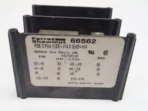 Ferraz Shawmut 66562 Power Distribution Terminal Block 600v Pdb 2 pole