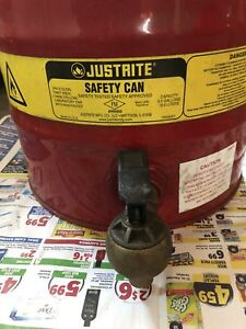 Justrite 10807 W 8540 Faucet Safety Can 5 Gal Red