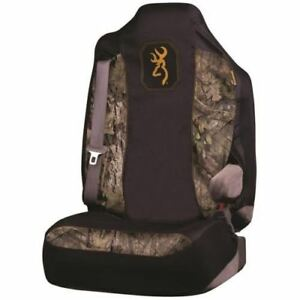 Browning Camo Seat Cover Universal Fit Mossy Oak Country Black Gold Single