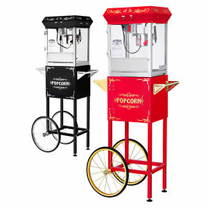 Gnp Foundation Popcorn Machine 6oz Popcorn Popper W cart 6 Ounce Red Or Black