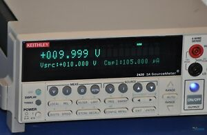 Keithley 2420 3a Sourcemeter Smu Source Meter Nist Calibrated With Warranty