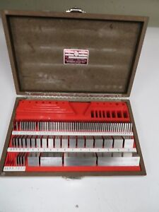 Starrett Webber Gage Block Set 87 Pcs Scs81ax Croblox steel Mixed Na20
