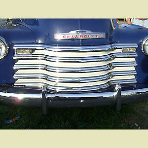 Chevrolet Chevy Grill Grille Chrome Bars Ivory Inner 1 2 3 4 1 Ton 1947 1953