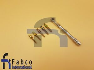 Dental Surgical Implant Bone Expander Screw Set Of 5 With 4 0mm Ratchet Wrench