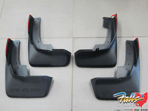 2019 2021 Ram 1500 Dt Front Rear Black Molded Splash Guard Mud Flaps Mopar Oem