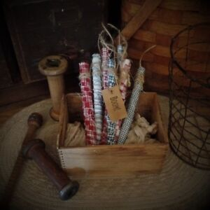 Primitive Firecrackers Bowl Fillers Americana Patriotic Set Of 8 Boom Red White