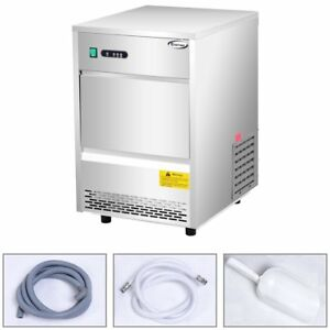 Stainless Steel Commercial Ice Maker 70lb 24h Freestanding Portable Ice Machine