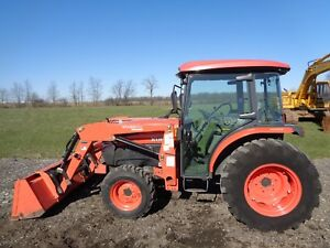 2008 Kubota L3940 Tractor Cab heat air Front Loader 4wd Hydro