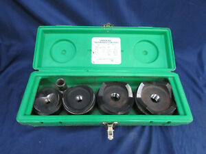 Greenlee 7304 Knockout Punch Set 4pc 2 1 2 3 3 1 2 4