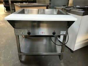 Klinger s Trading 2 Well Electric Steam Table With Drain Assembly Sw2h120v