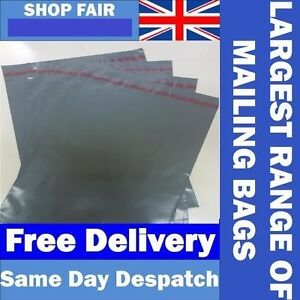 Grey Mailing Postage Poly Plastic Mailers Envelopes Bags uk Made Free Eu Post