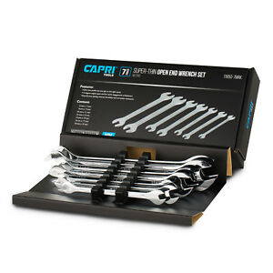 Capri Tools Super Thin Open End Wrench Set Metric 6 To 19 Mm 7 Piece