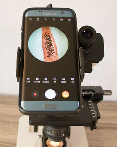 Customized Microscope Smartphone Camera Adapter Kit Eye Cup Blue Filter