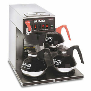 Bunn Cwtf15 12 cup Automatic Brewer With 3 Warmers new