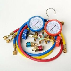 Auto Air Conditioning Ac A c Refrigeration Charging Gauges Set Gage
