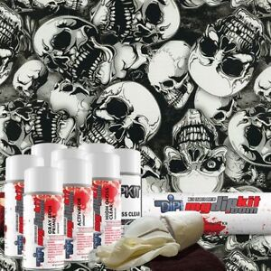 Hydro Dipping Water Transfer Printing Hydrographic Dip Kit Large Skulls Dd 931