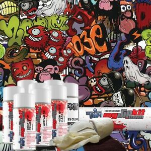 Hydro Dipping Water Transfer Printing Hydrographic Kit Monster Graffiti Dd 958