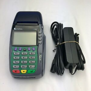 Verifone Vx570 Credt Debit Card Terminal Omni 5750 W Power Adapter Tested