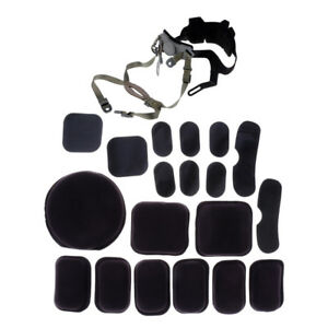 Perfeclan MICH Helmet Retention System Strap &Helmet Tactical Protective Pad