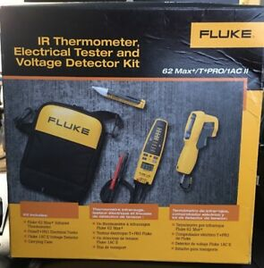 Fluke 62max t pro 1ac ii Ir Thermometer Electrical Tester Voltage Detector Kit