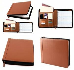Stylish Design Business Check 7ring Binder 3up Checks Pu Leather Cover Zipper Us