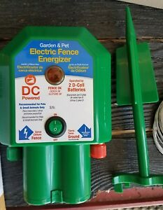 Battery operated Electric Fence Protecting 5 Acre Coverage With 12 New Batteries