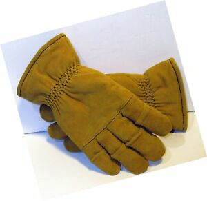 Size Medium Tan Firefighter Heavy Duty Work Gloves Nfpa Rated
