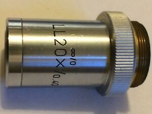 Leitz Microscope Objective Ll20x 0 40 Infinity no Coverslip