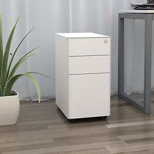 Orford Home Office 3 Drawer Metal File Cabinet Lockable Under Desk Furniture