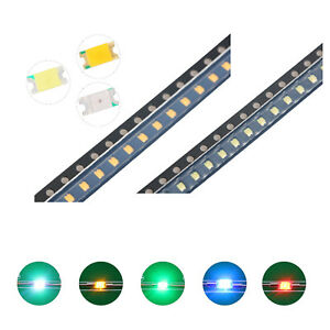 100pcs 5colors 1206 3216 Smd Smt Led Diodes White Red Blue Mix Kit Lamp Lights