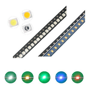 100pcs 5colors 1210 3528 Smd Smt Led Diodes White Red Blue Mix Kit Lamp Lights