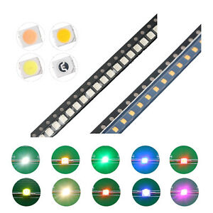 200pcs 10kinds 1210 3528 Smd Smt Led Diodes White Red Blue Mix Kit Lamp Lights