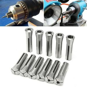 11pcs 1 8 3 4 Steel Imperial Morse Taper R8 Collet Set For Machining