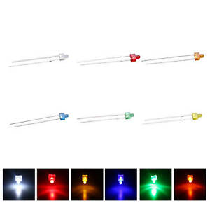120pcs 6colors 2mm Led Diffused White Red Blue Mix Kit Emitting Diodes Lamps