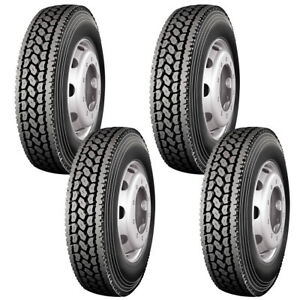 4 X Commercial Truck Tires 11r24 5 146 143l 14 Ply Close Shoulder Drive Tires