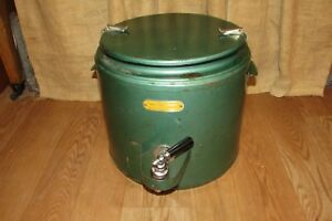 Vintage Metal Super Chef Insulated Food Beverage Container Cooler 3031
