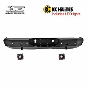 Rbm95chn Kc Magnum Off Road Rear Bumpers With Kc Hilites Led Reverse Lights Ici