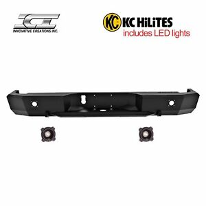 Rbm73dgn Kc Magnum Off Road Rear Bumpers With Kc Hilites Led Reverse Lights Ici