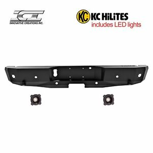 Rbm85fdn Kc Magnum Off Road Rear Bumpers With Kc Hilites Led Reverse Lights Ici