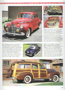1941 Chevy Woody Wagon Pickup Truck Article Must See