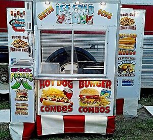 Custom Vending Food Cart W automatic Fire System Ansul concession hot Dog street