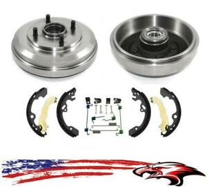 Rear Drums Wheel Bearings Brake Shoes Spring Kit For Ford Focus 09 11 2 0l