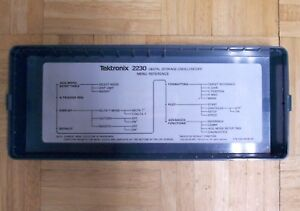 Tektronix Cover Lid 200 2520 With Decal For 2230 Fits 2213 2215 2230 Series