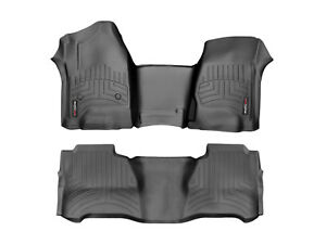 Weathertech Floorliner Mats For Silverado Sierra Crew Cab 2 Piece Set Black