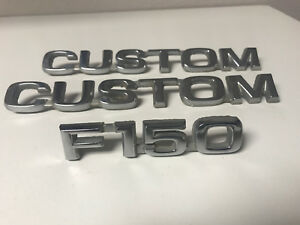 80 86 Ford F150 Truck Custom Fender Emblems Metal Oem
