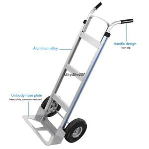 Large Capacity 500 Lbs Heavy Duty Aluminum Dolly Hand Truck Moving Cart Us Ship