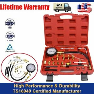 0 140 Psi Petrol Diesel Fuel Injection Pump Injector Tester Pressure Gauge Kit