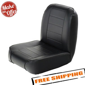 Smittybilt 44801 Front Low Back Bucket Vinyl Seat For 1955 1976 Jeep Cj3 Cj5 Cj7
