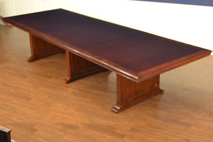 Councill Craftsmen Mahogany Large Wide Long Board Room Conference Table